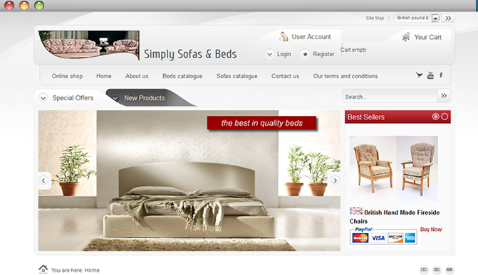 Furniture website developers